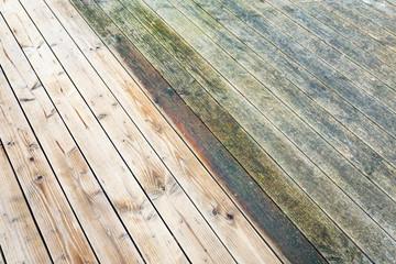 Terrasse: alt und neu