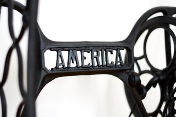 America Antique sewing machine.