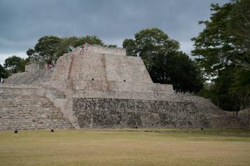 Famous Mayan city, Zona archeologica Edzna near Campeche, Mexico