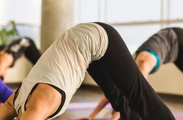 Yoga Student in Downward Dog Position