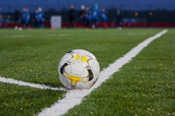 Fototapeta Piłka na boisku piłkarskim