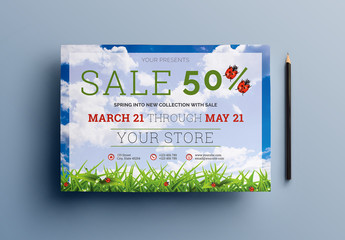 Four Spring Sale Flyer Layouts