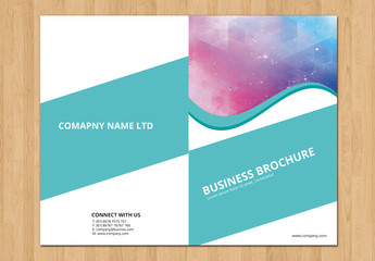 Teal Business Brochure Layout 5
