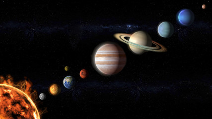 planets of the Solar System view from space