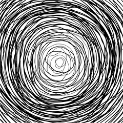 Doodle spiral on white. Abstract background. Decorative pattern