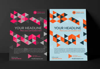 Multipurpose Flyer Layout with Geometric Elements 1