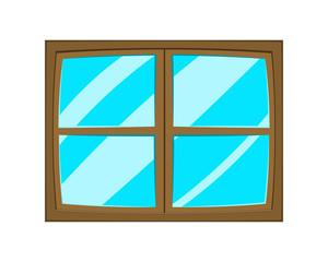 Window cartoon vector symbol icon design.
