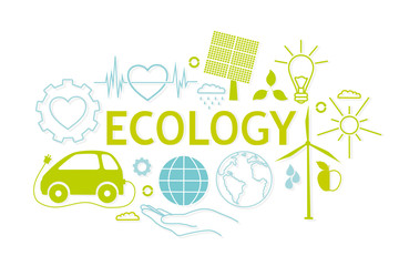 Concept of ecology problems and environmental pollution