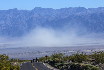 Desert storm - Death Valley National Park in California