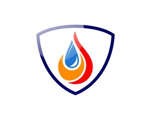 logo fire and water, security