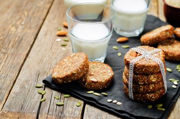 Quinoa dates oats pumpkin seeds; almond Breakfast cookies