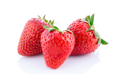 tasty strawberries isolated.