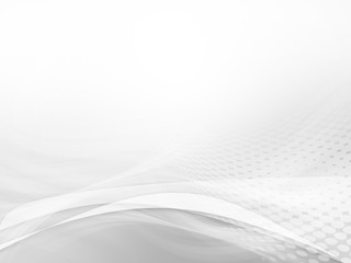 Abstract white background waves with space for text for your own creations