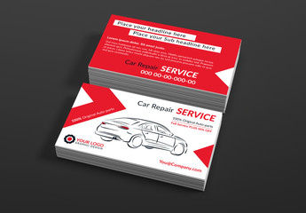 Automotive Services Business Card Layouts 1