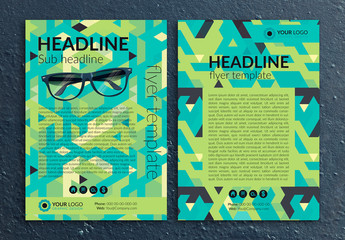 Multipurpose Flyer Layout with Geometric Background