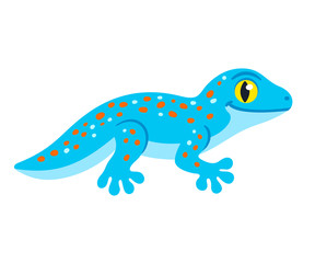 Cute cartoon Tokay Gecko