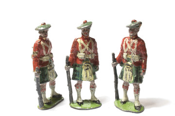 Collection of Antique Tin Toy Soldiers