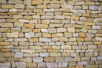 Background of stone wall texture.