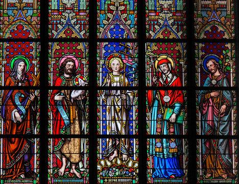 Saints Colette, John the Baptist, Emmanuel, Carolus Borromeus and Joseph