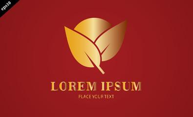 gold leaf sun logo