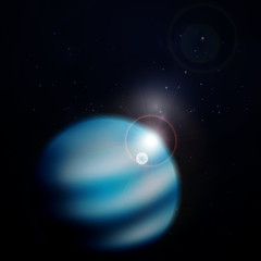 Planet Neptune background. Vector