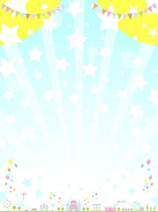 テーマパーク 星空
