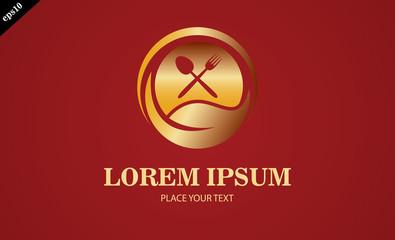 gold leaf vegetarian logo