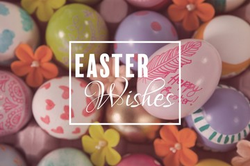 Composite image of easter greeting