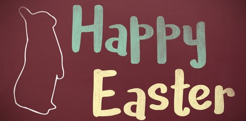 Composite image of happy easter logo against white background