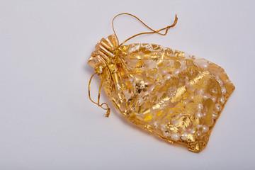 Indian decorative golden bag