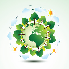 Green eco earth