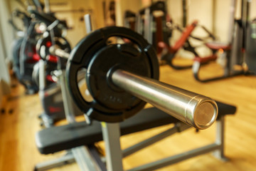 Close up Dumbbell in Fitness Room