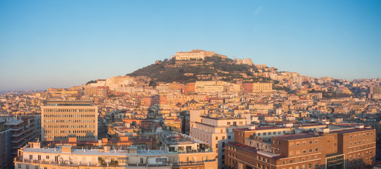 Napoli, Italy. Wonderful landscape on the city and its districts