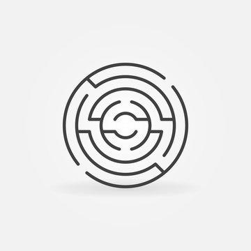 Circular maze icon