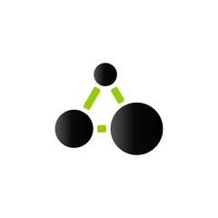 Duo Tone Icon - Connected dots