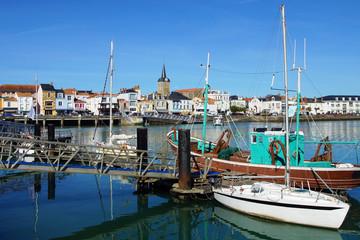 Autocollant pour porte Port vieux port des Sables d'Olonne
