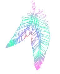 красивые нежные перья - татуировка