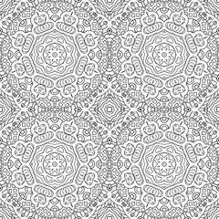 Seamless background. Ethnic doodle motives. Zentagl coloring pattern