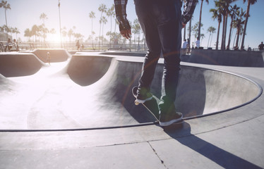 Skater in action in Los angeles