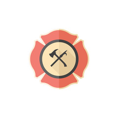 Flat icon - Firefighter emblem
