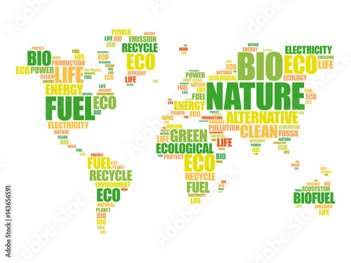 Ecology theme world map in typography word cloud conceptual ecology theme world map in typography word cloud conceptual background gumiabroncs Images