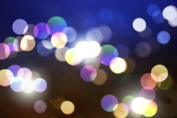 Abstract and Beautiful Bokeh Blur Background with flare.