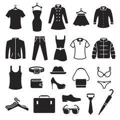Clothing Store Icons set
