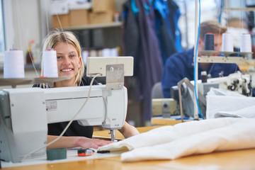 Seamstress textile factory
