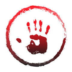 Vector concept or conceptual paint human hand