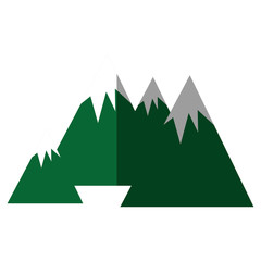 big mountains isolated icon