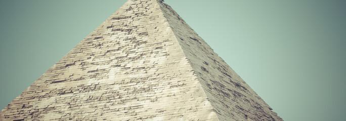 Great Egyptian pyramids in Giza, Cairo