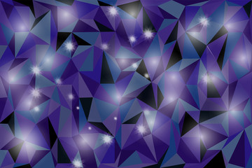 Abstract Sparkling Stars on Blue Holiday Background.
