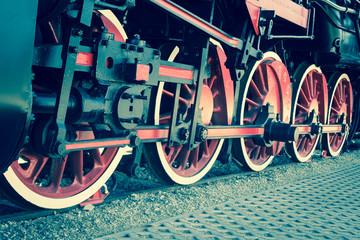 Details of Polish steam locomotive.