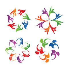 Community people logo vector concept.